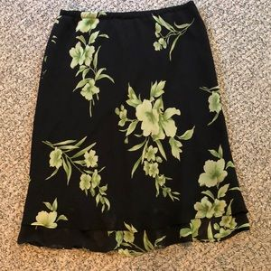 Dresses & Skirts - Black and green floral skirt